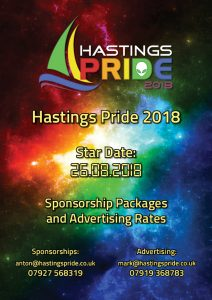 Hastings Pride 2018 Sponsorship and Advertising